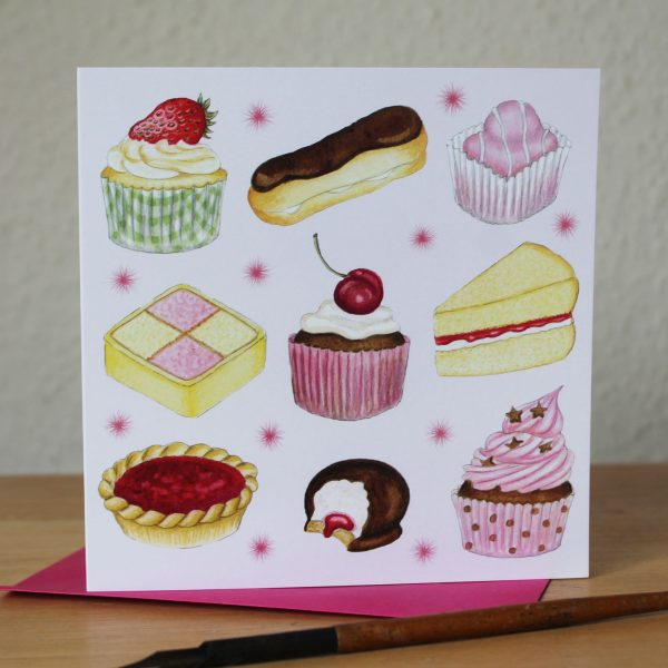 Cakes Greetings Card