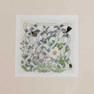 celtic flora coast mounted print