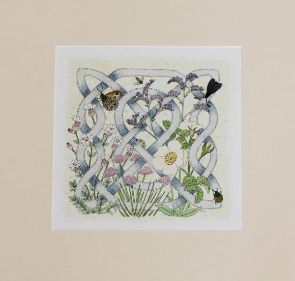celtic flora coast mounted print