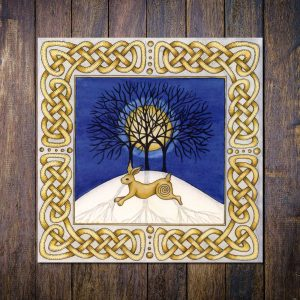 celtic hare christmas card