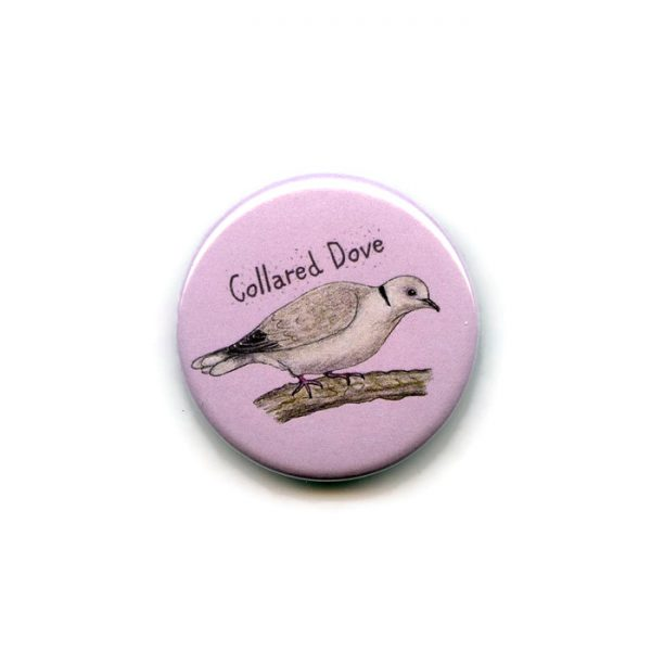 collared dove fridge magnet