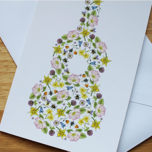 floral ukulele card