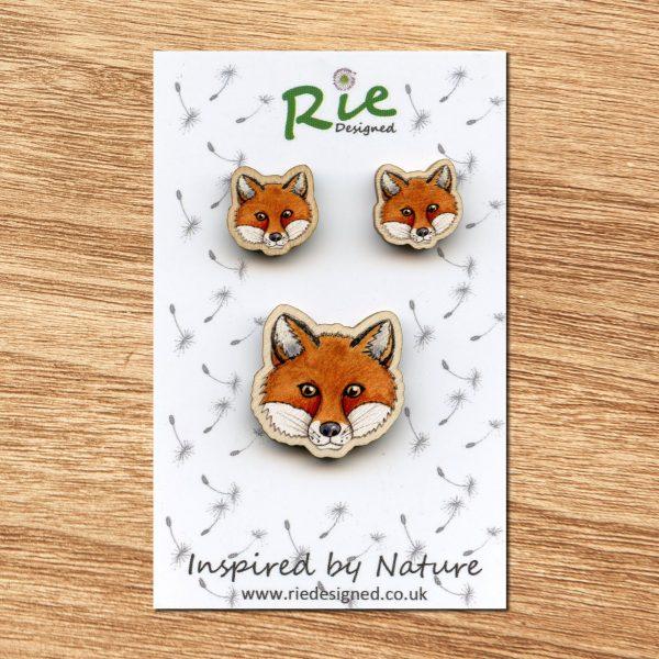 fox-face-jewellery set