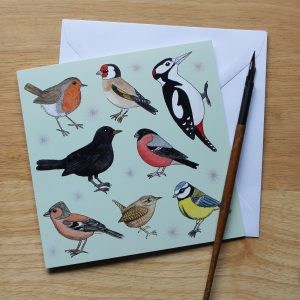 Garden Birds Greetings Card