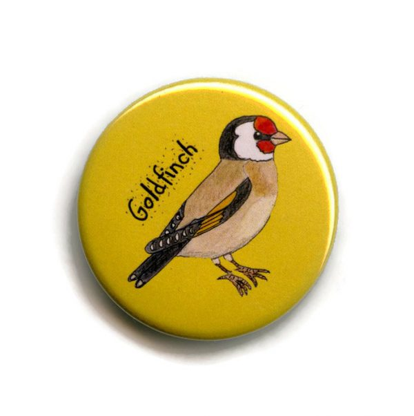 goldfinch fridge magnet
