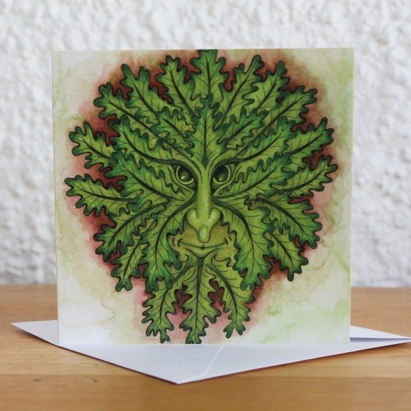 summer greenman greetings card