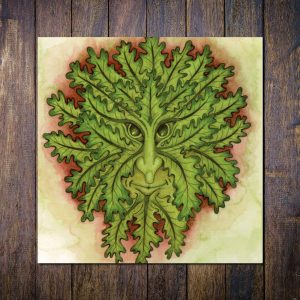 summer greenman greetings card