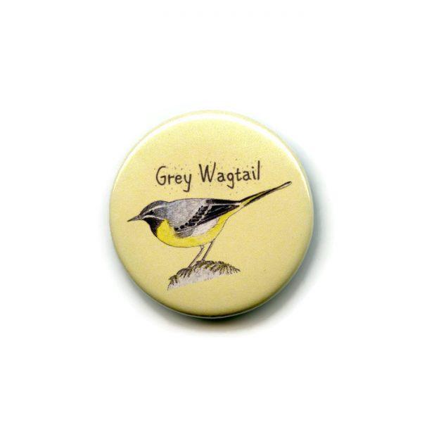 grey wagtail fridge magnet