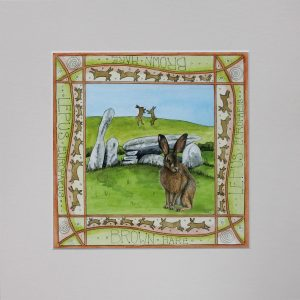 hare cairnholy mounted print