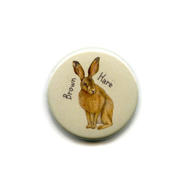 brown hare fridge magnet