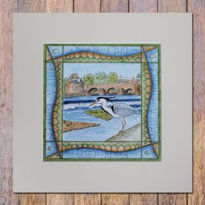 heron dumfries mounted print