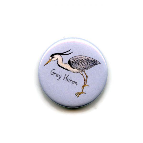 grey heron fridge magnet