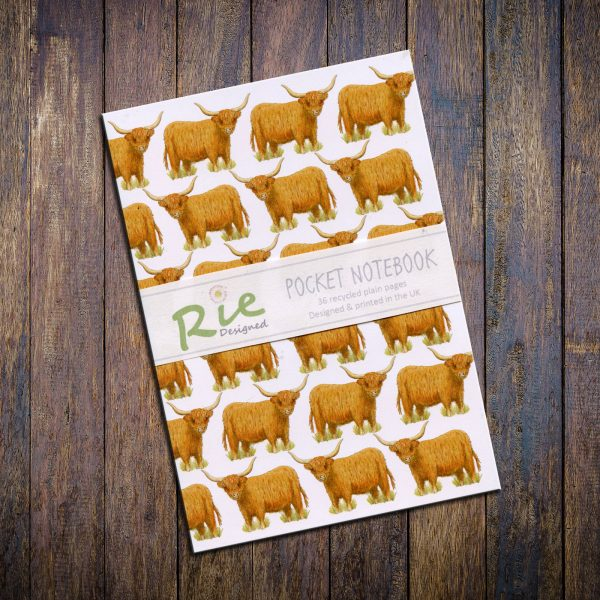 highland cow A6 notebook