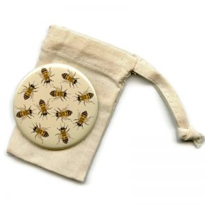 honey bee pocket mirror