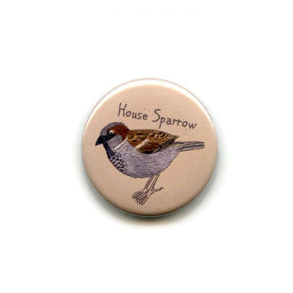 house sparrow fridge magnet