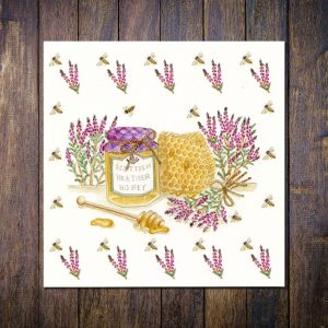 scottish heather honey greetings card
