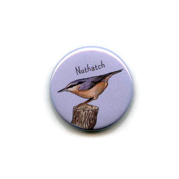 nuthatch fridge magnet