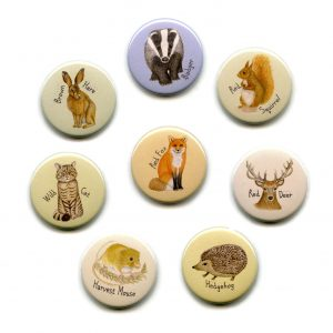 british wild animal mammals fridge magnet