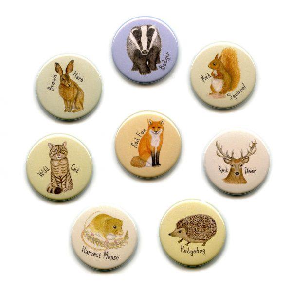 british wild animal mammals fridge magnet