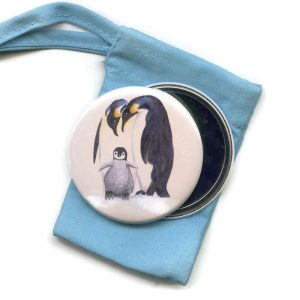 penguin pocket mirror