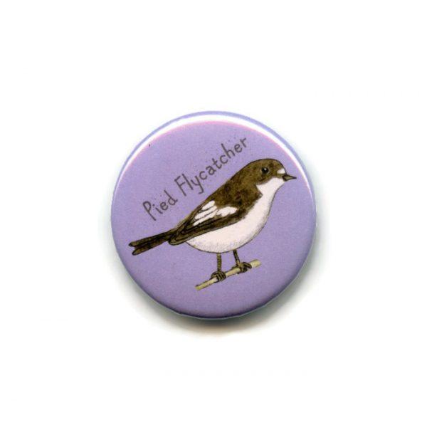 pied flycatcher fridge magnet