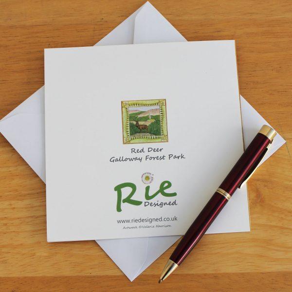 Galloway Red Deer Range greetings card