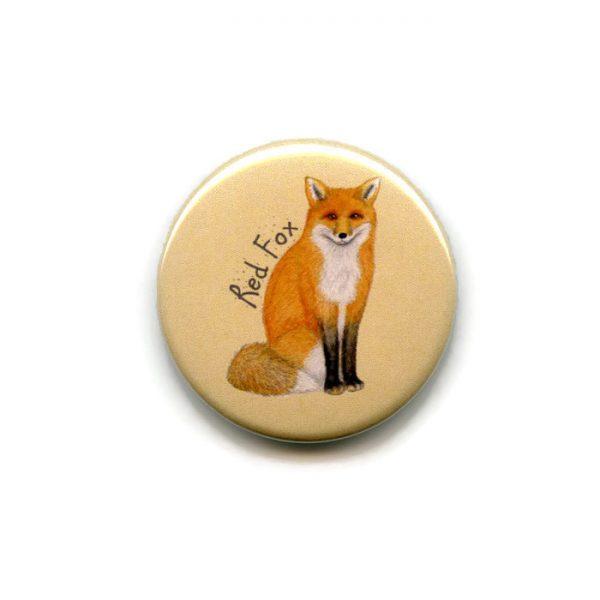red fox fridge magnet