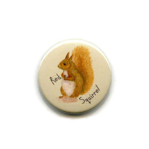 red squirrel fridge magnet