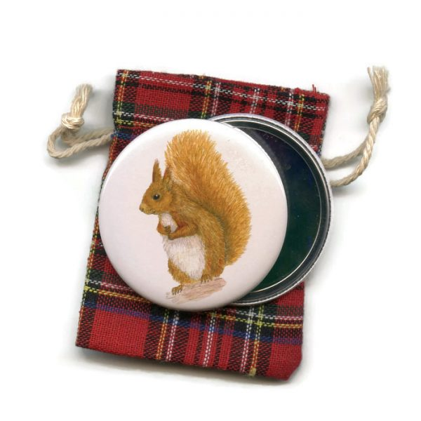 red-squirrel pocket mirror