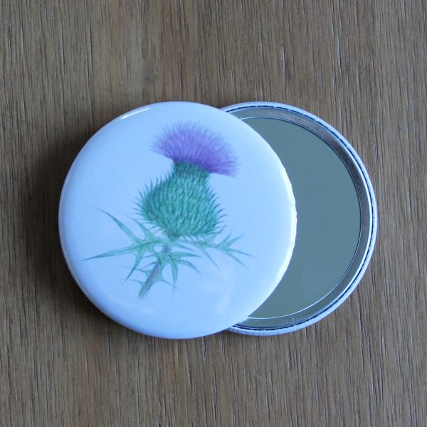 thistle pocket mirror