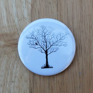tree silhouette pocket mirror