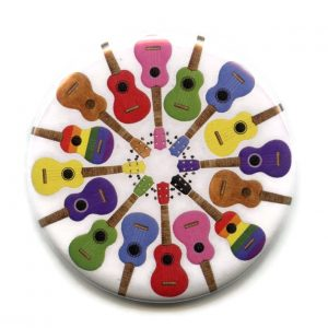 ukuleles pocket mirror