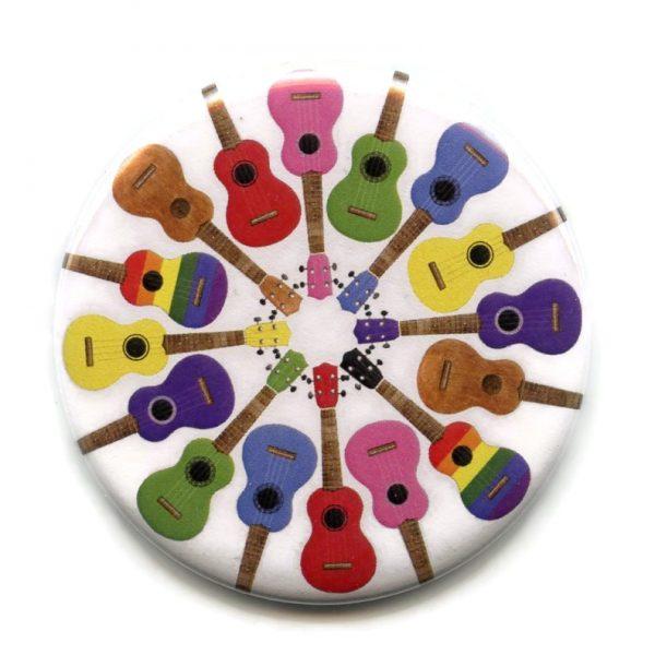 ukuleles pocket mirror