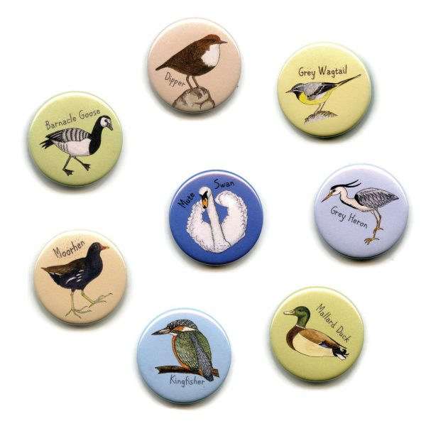 water birds fridge magnet