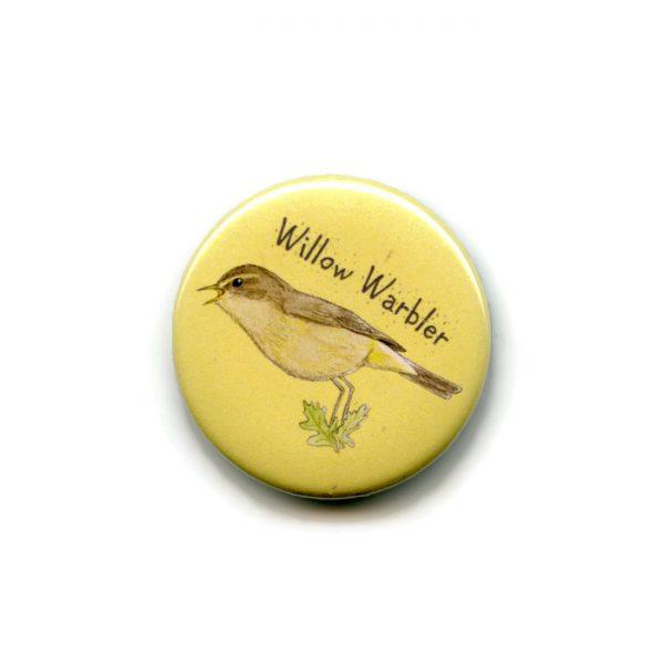 willow warbler fridge magnet