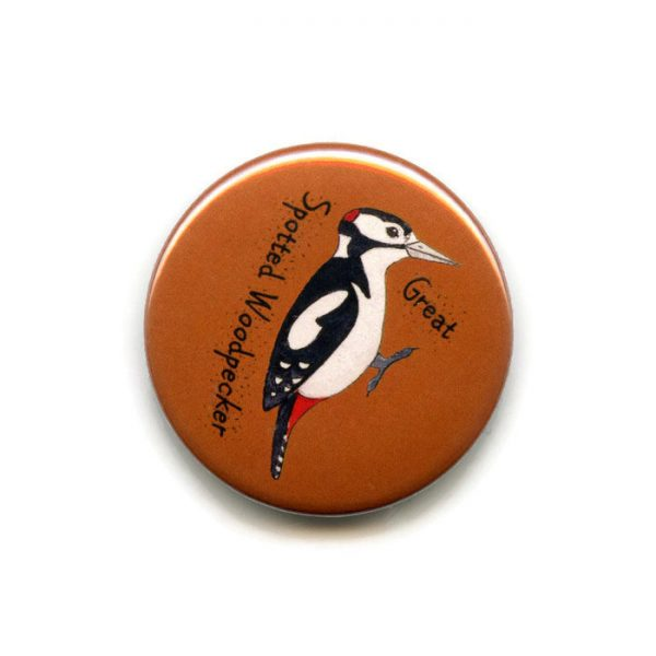 great spotted woodpecker fridge magnet