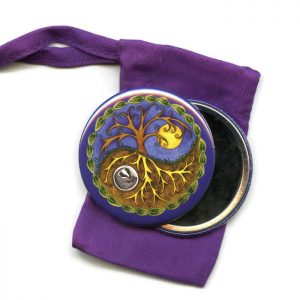 yin and yang pocket mirror