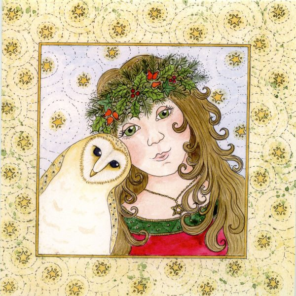 yule maiden christmas card