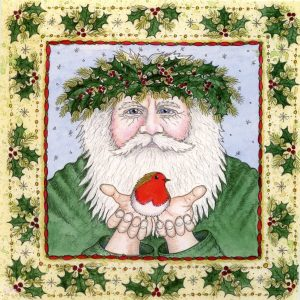 yule man christmas card