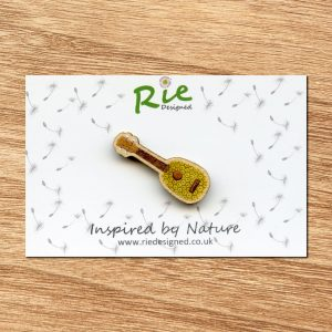 Pineapple ukulele brooch