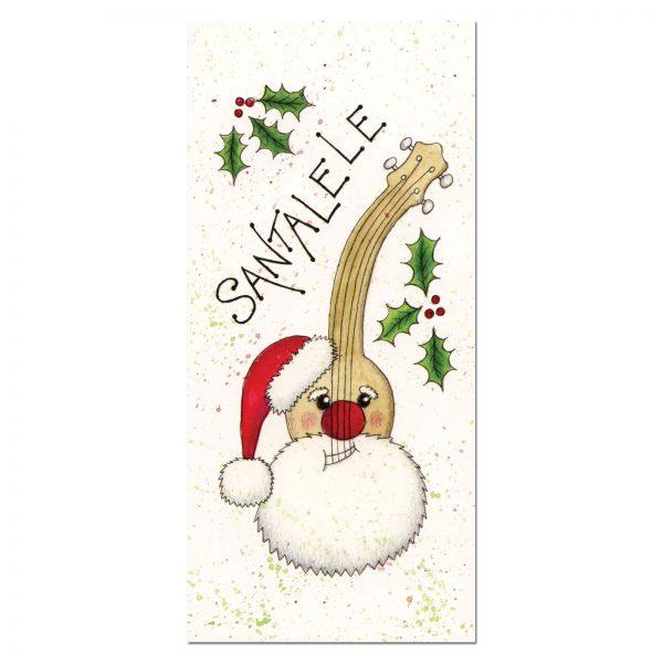 Santalele Ukulele Christmas Card