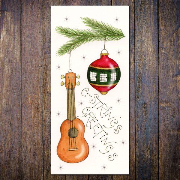 Ukulele Christmas Card