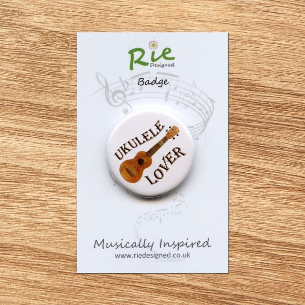 ukulele lover badge