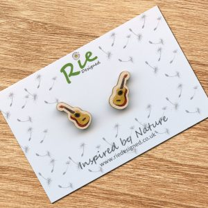 Ukulele Stud Earrings