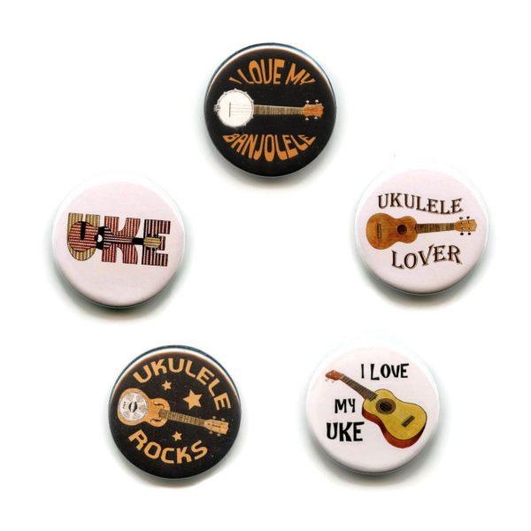 ukulele button badges