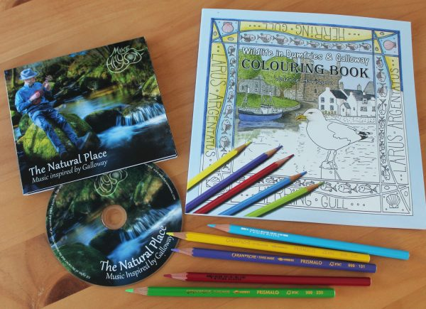 relaxation gift set colouring book and cd