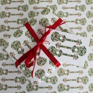 Christmas Ukulele Gift Wrap