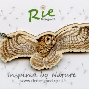 Flying Tawny owl necklace