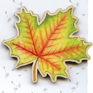 large maple leaf brooch