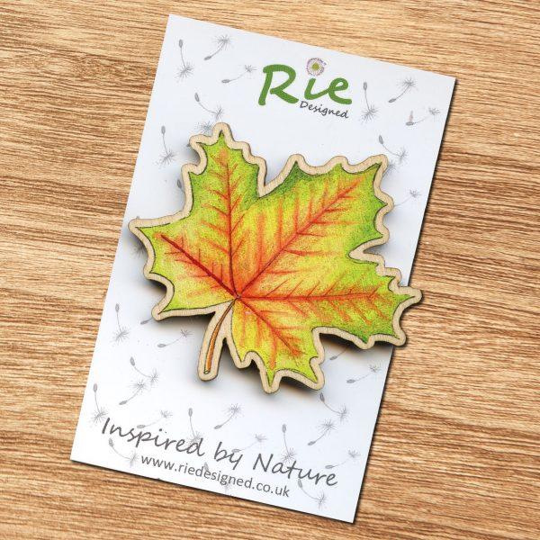 large maple leaf brooch